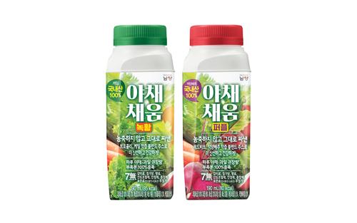 남양유업, 야채·과일로 꽉 채워진 '야채채움' 2종 출시